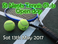 St Neots Tennis Club Open Day
