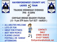 Haverfordwest County AFC - Ladies Team