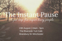 Instant Pause at the Riverside Yurt Cafe