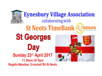 A ROYAL WEEKEND FOR ST GEORGE IN ST NEOTS