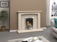 Marble Surround and Inset Gas Fire Package
