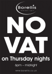 Pay NO VAT on Drinks and Meals