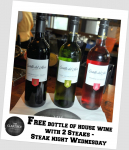 FREE BOTTLE OF WINE