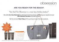 FREE Beach Bag with Sun Soleil Products