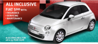 All inclusive insurance offer on new Fiat 500 at Motor Village Croydon