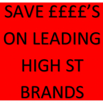 SAVE UP  TO HALF PRICE ON HIGH STREET PRICES