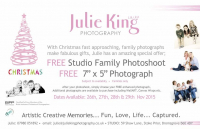 "Free Family Photoshoot & 7""X 5"" Photograph Ready for Christmas"