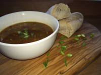 £2.99 FOR DELICIOUS FRESH SOUP AND ROLL FROM TAPENADE DELICATESSEN