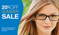 20% OFF ~ SUMMER SALE at  BBR Opticians