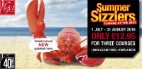 SUMMER SIZZLERS MENU - £12.95 FOR 3 COURSES - AT LE GRANDE MARE
