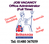 Job Vacancy at  Britannia Harrison and Rowley (Removals and Storage) St Neots