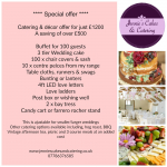 Wedding Catering & Decor Package Offer £1200 Saving £500