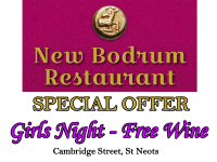 Girls Night - Free Wine Monday - Thursday - The New Bodrum St Neots