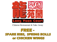 FREE - SPARE RIBS,  SPRING ROLLS or CHICKEN WINGS