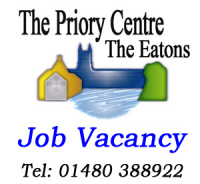Job Vacancy The Priory Centre - Catering Assistant Required