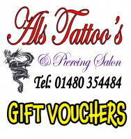 Tattoo & Piercings Gift Vouchers