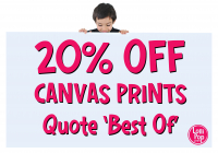 20% Off All Canvas Prints