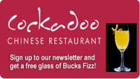 Become a Friend of The Cockadoo and receive a free glass of Bucks Fizz!
