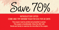 £34 for 30 Days Introductory Bikram Yoga