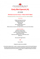 Early Bird Special Dine for £10.90 no.1