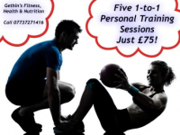 FIVE 1-TO-1 PERSONAL TRAINING SESSIONS - JUST £75