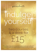 Indulge Yourself 2 courses & a drink for £15