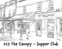 Wednesday Supper Club just £10 at 143 The Canopy in Epsom