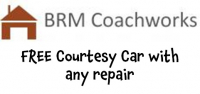 FREE Courtesy Car with ANY Repair from BRM Coachworks @BRMcoachworks