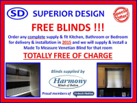 FREE blinds with any complete supply and fit!