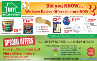 Easter Offers from Broad St DIY