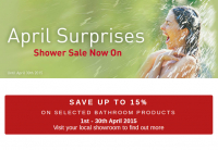 April Showers Sale: Save up to 15% on your Ripples Bathroom