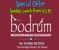 Special Offer - Sunday Lunch from £5.95 - The Bodrum Restaurant St.Neots