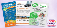 5000 Full Colour Leaflets including marketing advice, design & print for only £247 with Modern Print & Design