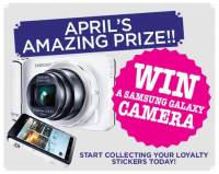 Win a SAMSUNG GALAXY CAMERA!!! with your Loyalty Card