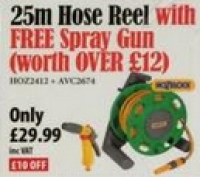 Save £10 on a 25m Hose Reel and receive a FREE Spray Gun @ Towy Works