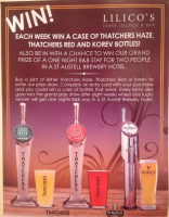 Win a Case of Thatchers and be in with a chance to win an overnight B&B stay in a St Austell Brewery Hotel