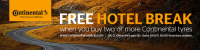 Free Hotel Break When You Buy 2 or More Continental Tyres at Supertyres Welwyn Garden City