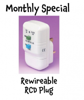 Monthly Special from Spring Electrical - Rewireable RCD Plug @SpringEwell