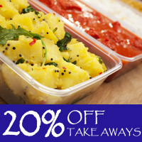 20% OFF Take Aways