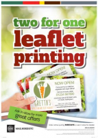 2 FOR 1 ON LEAFLETS