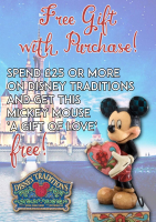Free Gift with Purchase on the Disney Traditions range...