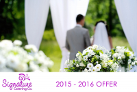Book your 2015 wedding catering with us and get a free lunch or dinner to the value of £50 at one of our Restaurants