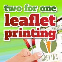 DISCOVER OUR GREAT PRINT OFFERS THIS SPRING! 2 FOR 1 ON LEAFLETS !!