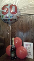 FREE PARTY BALLOON, CARD AND BUBBLY