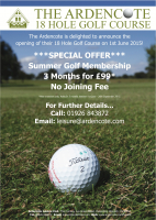 The Ardencote 18 Hole Golf Course Summer offer