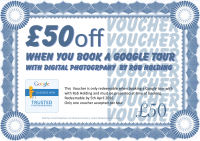 £50 off when booking a Google Tour
