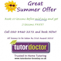 Summer offer from the Tutor Doctor