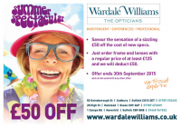 Save £50 with Wardale Williams