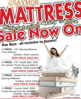 SaymorJune Mattress Sale