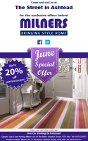 June Special Offer from @MilnersAshtead - Up to 20% Off Selected Carpets